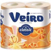 Туалетная бумага Linia Veiro Classic Желтая  2 слоя 4 рулона