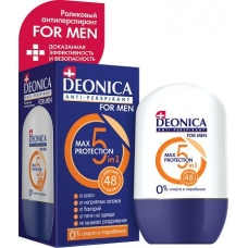 DEONICA Антиперспирант-ролик FOR MEN 5 Protection 45 мл.