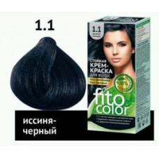 FitoColor Стойкая крем-краска для волос (цвет иссиня-черный)