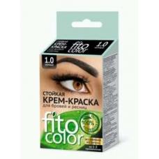 FitoColor Стойкая крем-краска для бровей и ресниц (цвет черный)
