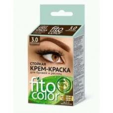 FitoColor Стойкая крем-краска для бровей и ресниц (цвет коричневый)