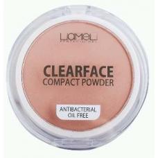 Lamel Professional CLEARFACE Пудра антибактериальная 01 натуральный