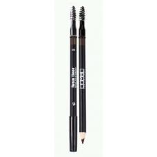 Lamel Professional BROW LINER PENCIL Карандаш для бровей с кисточкой 301 темно-коричневый