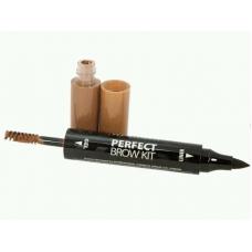 Lamel Professional Подводка и гель для бровей Perfect Brow Kit 02 коричневый