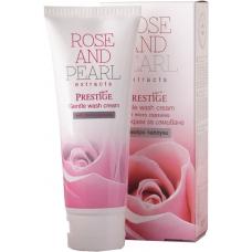 VIPS PRESTIGE ROSE&PEARL Нежный крем для умывания с микрогранулами 100 мл.