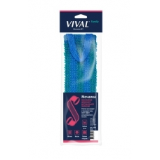 VIVAL Мочалка для тела Длинная с вертикальной полосой