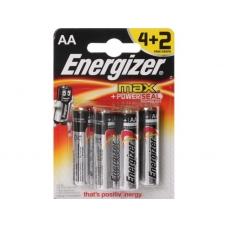 Батарейки Energizer Max E91/AA 4+2шт