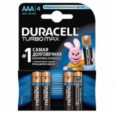 DURACELL Батарейка Turbo AAA 1,5V LR03 4 шт.