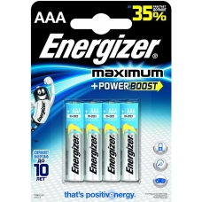 Батарейки Energizer MAXimum E92/AAА 4 шт.