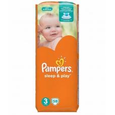 Подгузники Pampers Sleep & Play (5-9кг.) 58шт.