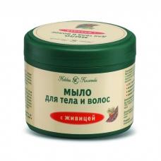 Мыло для тела и волос с живицей 300 мл.