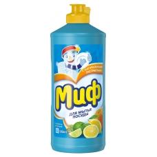 Средство для мытья посуды Миф с ароматом цитрусовых 500 мл.