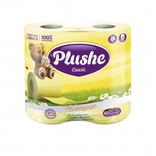 Туалетная бумага Plushe Classic Ромашка 2 сл. 4 шт.