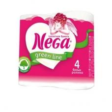 Туалетная бумага Nega Green line Standard 2 сл. 4 шт.