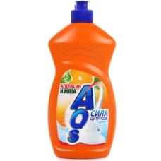 Моющее средство «AOS» Апельсин+мята 500 мл.