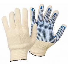 Перчатки хлопчатобумажные вязаные с ПВХ  Белые 1 пара