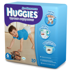 Подгузники HUGGIES Трусики-подгузники для мальчиков 16-22кг. 30шт