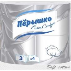 Туалетная бумага Перышко Extra Comfort  3 сл. 4 шт.