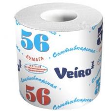 Туалетная бумага Сыктывкар 56м.1сл. 1рул.