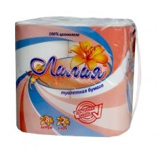 Туалетная бумага ЛИЛИЯ Белая 2 слоя 8 рулов