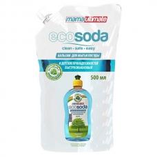 EcoSoda Бальзам для мытья посуды и детских принадлежностей 500 мл. сменный блок