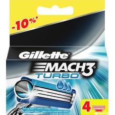 Сменные кассеты для бритья Gillette Mach 3 Turbo Алоэ, 4 шт.