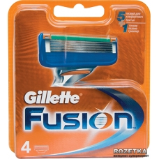 Сменная кассета Gillette Fusion 4 шт.