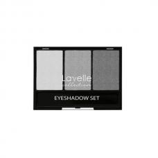 LavelleCollection тени для век тройные тон 04 серый