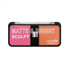 LavelleCollection румяна компактные MATTE&BRIGHT тон 04 розовый фламинго