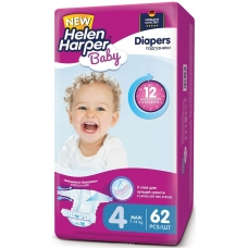 Подгузники Helen Harрer Baby 4 (7-14 кг) 62 шт
