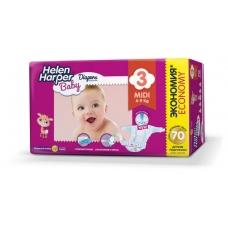 Подгузники Helen Harper Baby 3  (4-9 кг) 70 шт