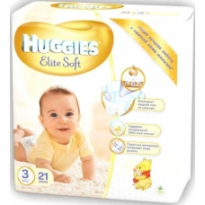 Подгузники Huggies Elite Soft 3 (5-9 кг) 21 шт