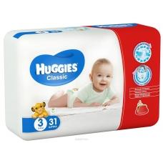 Подгузники Huggies Classic 3 (4-9 кг) 31 шт