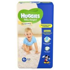 Подгузники Huggies Ultra Comfort для мальчиков 4 (8-14 кг) 19шт