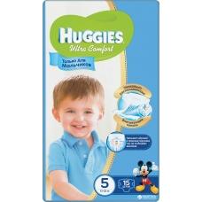 Подгузники Huggies Ultra Comfort для мальчиков 5 (12-22 кг) 15 шт