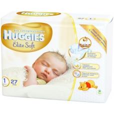 Подгузники Huggies Elite Soft 1 (1-5 кг)  27 шт