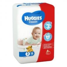 Подгузники Huggies Classic 3 (4-9 кг) 16 шт