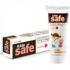 CJ Lion Детская зубная паста Kids Safe со вкусом клубники 90 г.