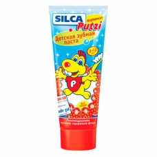 Зубная паста SILCA Putzi Клубничная. От 2 до 12 лет. 75 мл.