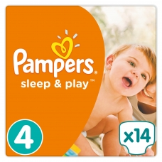 Подгузники Pampers Sleep & Play (9-14кг) 14 шт.