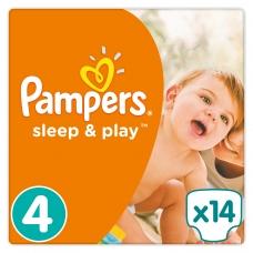 Подгузники Pampers Sleep & Play (9-14кг) 14 шт.