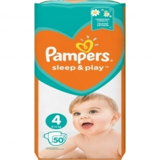Подгузники Pampers Sleep & Play (9-14кг) 50 шт.