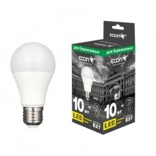 Лампа LED A 10 Вт E27 3000K A60 ES