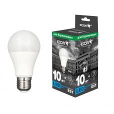 Лампа LED A 10 Вт E27 4200K A60 ES