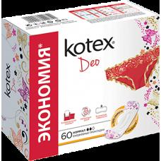 Kotex Ежедневные прокладки Normal Deo 60 шт.