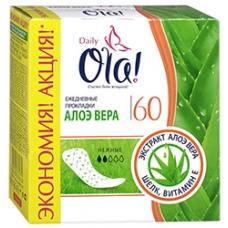 Ежедневные прокладки Ola! Daily Deo  Алоэ вера 60шт.
