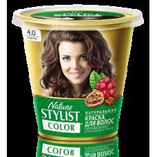 Краска для волос Nature Stylist Color тон 4.0 каштан