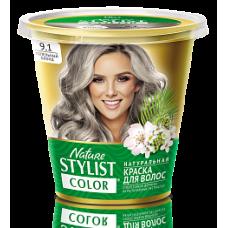 Краска для волос Nature Stylist Color тон 9.1 пепельный блонд