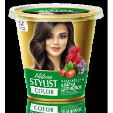 Краска для волос Nature Stylist Color тон 5.0 темно-русый