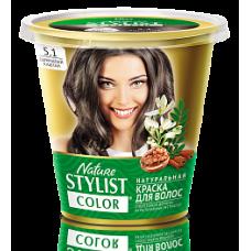 Краска для волос Nature Stylist Color тон 5.1 дымчатый каштан